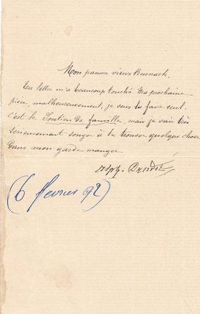 Alphonse Daudet lettre autographe signée William BUSNACH (1832-1907)