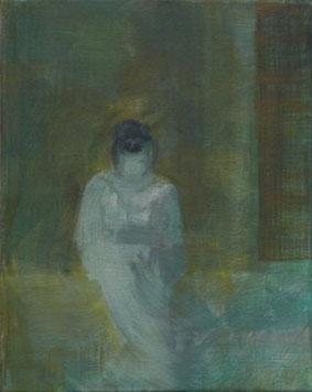 Am Fenster 1, Öl/Leinwand, 30 x 24 cm, 2018