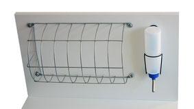 Meerschweinchen Gehege Heuraufe Wasser Tränke