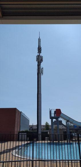 Antenne bij het Sportcentrum