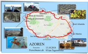 95 km rund um die Insel Terceira