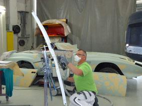 Carrosseriearbeiten ausgeführt vom Inhaber der Automalerei Hasler, Thomas Hasler