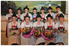 Die Dirndl der Gaugruppe 2013/2014