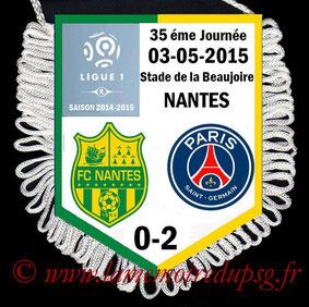 Fanion  Nantes-PSG  2014-15
