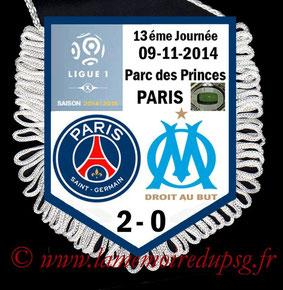 Fanion  PSG-Marseille  2014-15