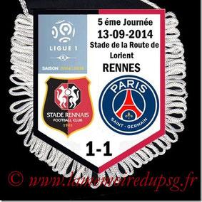 Fanion  Rennes-PSG  2014-15