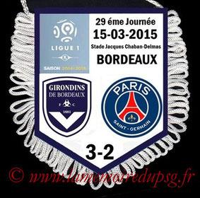 Fanion  Bordeaux-PSG  2014-15