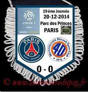 Fanion  PSG-Montpellier  2014-15