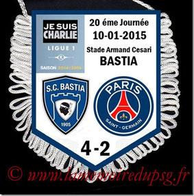 Fanion  Bastia-PSG  2014-15
