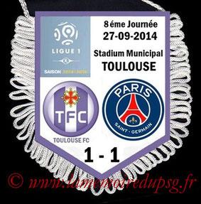 Fanion  Toulouse-PSG  2014-15