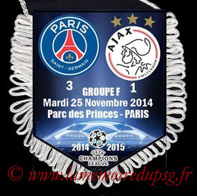 Fanion  PSG-Ajax  2014-15