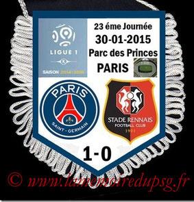 Fanion  PSG-Rennes  2014-15