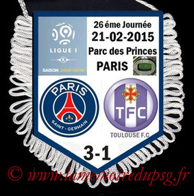 Fanion  PSG-Toulouse  2014-15
