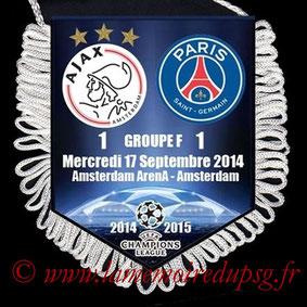 Fanion  Ajax-PSG  2014-15
