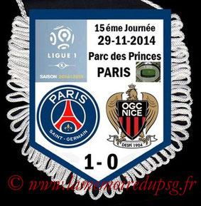 Fanion  PSG-Nice  2014-15