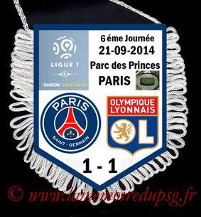 Fanion  PSG-Lyon  2014-15