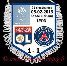 Fanion  Lyon-PSG  2014-15