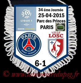 Fanion  PSG-Lille  2014-15