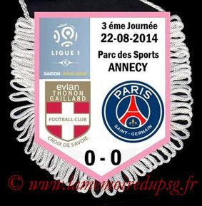 Fanion  Evian-PSG  2014-15
