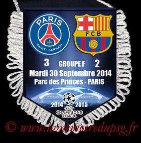 Fanion  PSG-Barcelone  2014-15