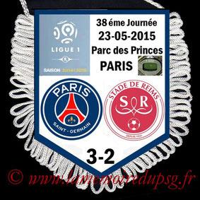 Fanion  PSG-Reims  2014-15