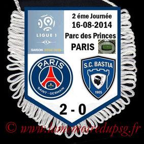 Fanion  PSG-Bastia  2014-15