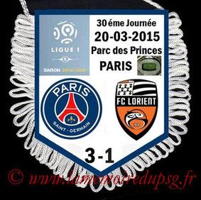 Fanion  PSG-Lorient  2014-15