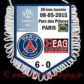Fanion  PSG-Guingamp  2014-15