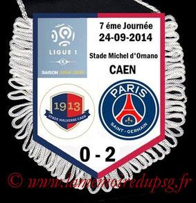 Fanion  Caen-PSG  2014-15