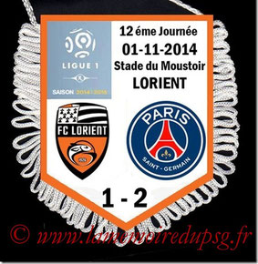 Fanion  Lorient-PSG  2014-15