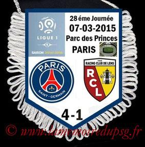 Fanion  PSG-Lens  2014-15