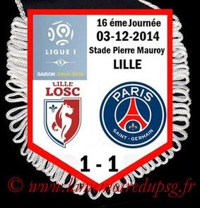 Fanion  Lille-PSG  2014-15