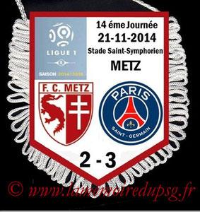 Fanion  Metz-PSG  2014-15