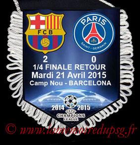 Fanion  Barcelone-PSG  2014-15