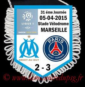 Fanion  Marseille-PSG  2014-15