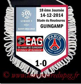 Fanion  Guingamp-PSG  2014-15