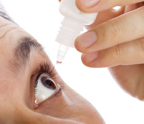 Photo of Person using a Ocular Drug Delivery