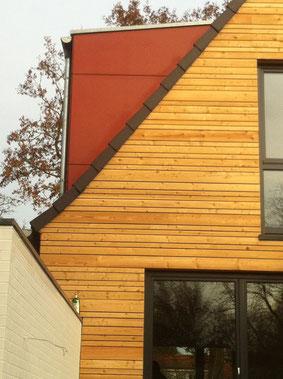 Individuelle Gestaltung durch Holzfassade