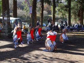 2012年11月畔宇治神社獅子舞奉納3
