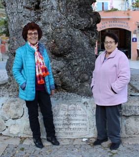 Andrée et Francette Pastor les deux présidentes de l'Amigansa.