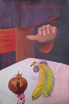 Still Life with fruits, 2010, acrylic painting on canvas,