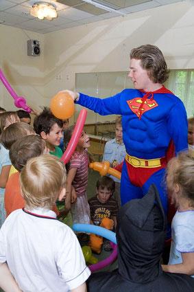 пригласить заказать вызов супермена на детский праздник, день рождения, на дом, школу, детский сад