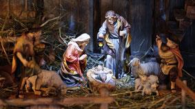 Crèche de Noël - La Nativité. Temple de Paris