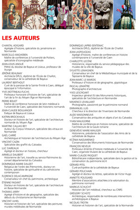 LES AUTEURS - BAYEUX, JOYAU DU GOTHIQUE NORMAND