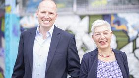 Petra Andersen (re.) + Tobias Handtke