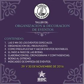 Organización & Decoración de Eventos - Producciones BDC