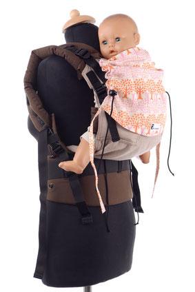 Huckepack Medium, Toddler, Preschooler Full Buckle, mitwachsende Babytragen, stufenlos mitwachsend.