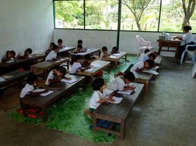 Orphelins du monastère/école de Dham Maransi Moe Kok (Yangon), que PASDB aide depuis 3 ans.