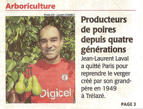 Article du Courrier de l'Ouest - Septembre 2013