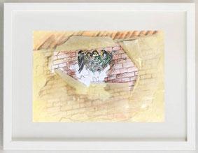 CIBO D'AMORE,  matite colorate, 30 x 20